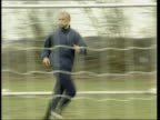 GRAHAM ENGLAND Buckinghamshire High Wycombe EXT Roy Essandoh running along during training session as scores goal