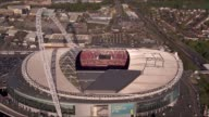 Reading vs Arsenal ENGLAND London Wembley Stadium VIEW AERIAL of Wembley Stadium with video screen showing spectators