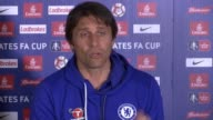 Chelsea beat Tottenham Hotspur FA Cup semifinal Chelsea beat Tottenham Hotspur Surrey Antonio Conte press conference SOT