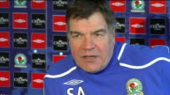 Third Round Blackburn Rovers Sam Allardyce press conference Allardyce talking to press Allardyce press conference SOT Does not look forward to FA Cup...