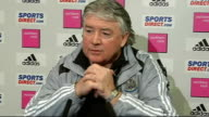 Third Round replay Newcastle United vs Hull City INT Joe Kinnear press conference SOT General views of Newcastle FC training session