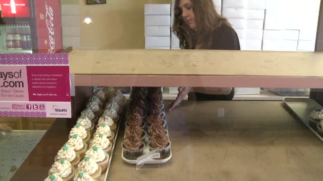 WGNO Cupcakes On Display In Bakery on October 13 2011 in New Orleans Louisiana