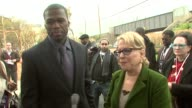 Curtis '50 Cent' and Bette Midler talk about how they teamed up together the GUnity foundation giving back to the Queens community and the...
