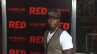 Curtis '50 Cent' Jackson at the 'Red' Premiere at Hollywood CA
