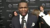 INTERVIEW Curtis '50 Cent' Jackson on being at the event tonight and recent changes in TV at The Paley Center For Media's Tribute To AfricanAmerican...