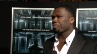 INTERVIEW Curtis '50 Cent' Jackson on how the actors are in great shape and how he's a fans of the legends at 'Escape Plan' New York Premiere...