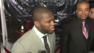 Curtis '50 Cent' Jackson on the appeal of this film wrestling if he'd ever work with Britney Spears at the 'The Wrestler' Premiere at Los Angeles CA