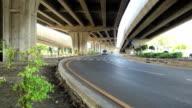 Curve under the bridge.