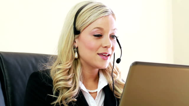 Customer Service Woman working at office