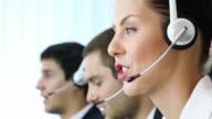 Customer support operators working