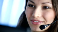 HD: Kunden-support-Telefon-Betreiber im Büro
