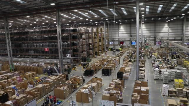 Customers' orders are processed at an Amazoncom Inc fulfillment center in Peterborough UK on Wednesday Nov 15 Photographer Luke MacGregor/Bloomberg
