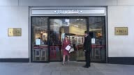 Customers purchase sanwiches beverages and salads inside a Pret A Manger sandwich store operated by private equity firm Bridgepoint in London UK on...