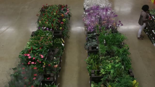 Customers shop at a Home Depot store in Midtown Manhattan in New York NY Friday August 11 2017 Photograph Victor J Blue Shots wide shot of Garden...