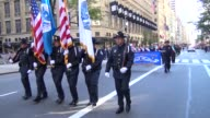 US Customs and Border Protection and The Columbia Association of US Customs and Affiliated Federal Agencies parade during the Columbus Day Parade on...