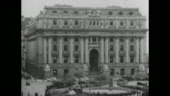 Customs House building NY CU Sign 'US Customs House' INT MS US Secret Service agents in office talking Counterfeiters