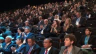 WS cut away audience clapping at World Islamic Economic Forum conference in London The 9th WIEF annual conference is the first to be held in a...