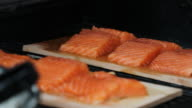 Cut of salmon