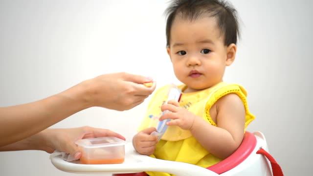 Cute baby eating