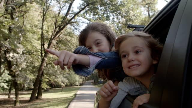 HD: Niedlichen Kinder im Auto.