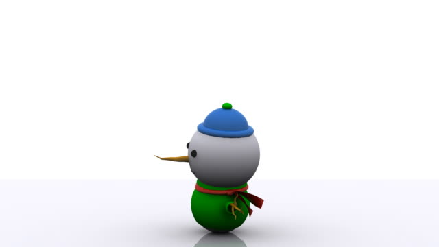 3D Cute Christmas Snowman