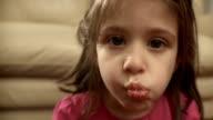HD: Cute Little Girl Eating