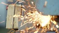 Schneiden Metall Objekt mit Plasma Cutter-Stock Material