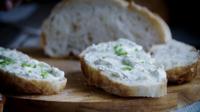 Cutting Fresh Homemade Bread
