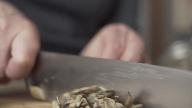Cutting Mushrooms