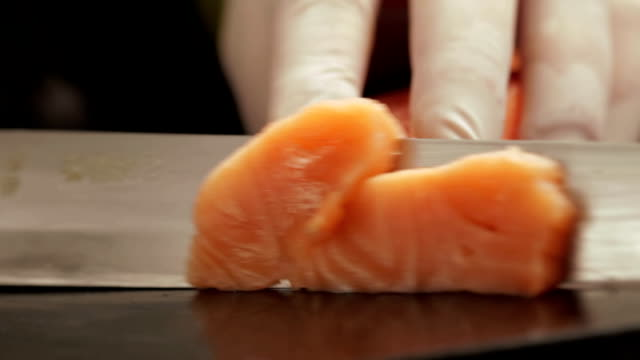 Cutting Salmon