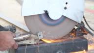 Cutting steel by cutting machine