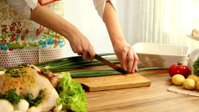 Snij de groenten.