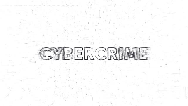 Cybercrime word animation