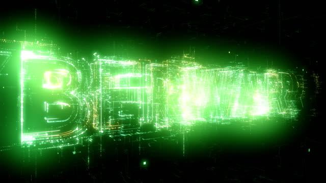 Cyberwar word animation