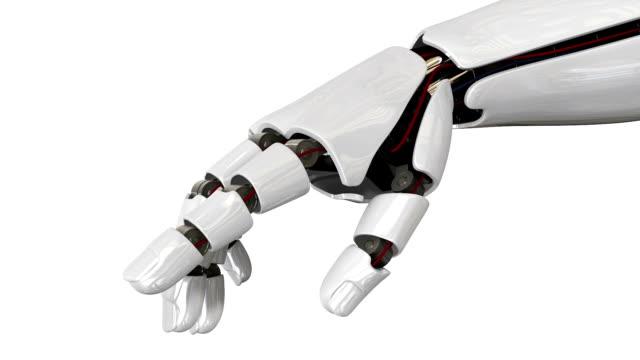 Cyborg robot hand HD movie