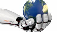 Cyborg robot with world in hand