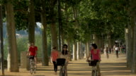 Cycling and Running by the Banks of the River Saone,PAN