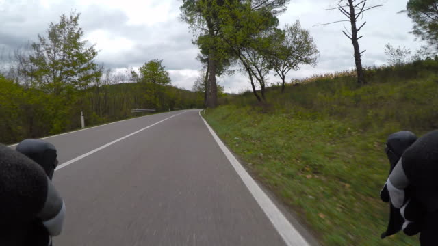 Cycling in Tuscany. Point of view video