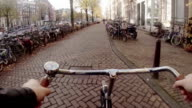 Cycling Through Historic Amsterdam Centre