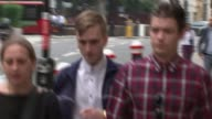 Cyclist Charlie Alliston convicted in connection with death of Kim Briggs ENGLAND London EXT Cyclist Charlie Alliston arriving at the Old Bailey...