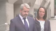 Cyclist Charlie Alliston convicted in connection with death of Kim Briggs Old Bailey Matthew Briggs from court Matt Briggs speaking to press SOT On...