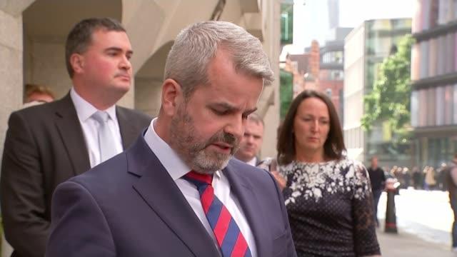 Cyclist Charlie Alliston jailed for 18 months over death of Kim Briggs Old Bailey Matthew Briggs departing court Matthew Briggs speaking to press SOT...