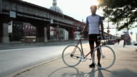 Cyclist in brooklyn