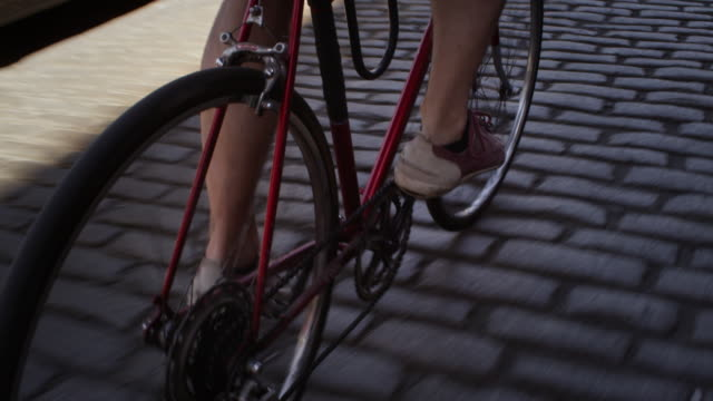 Cyclist's feet
