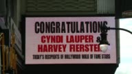 ATMOSPHERE Cyndi Lauper and Harvey Fierstein Honored With Star On The Hollywood Walk Of Fame at Hollywood Walk Of Fame on April 11 2016 in Hollywood...