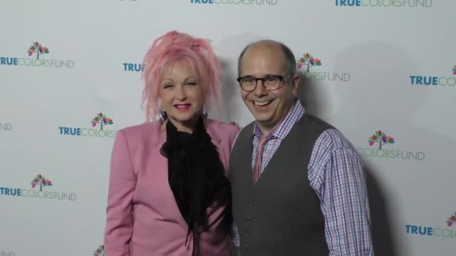 Cyndi Lauper and Michael Sluchan at the Cyndi Lauper's True Colors Fund Inaugural Damn Gala at Hollywood Athletic Club on October 09 2016 in...