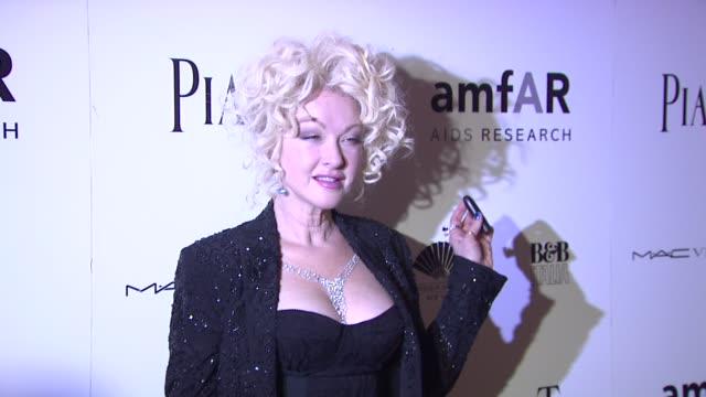 Cyndi Lauper at the 2010 amfAR New York Inspiration Gala at New York NY