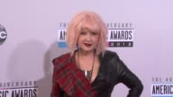 Cyndi Lauper at The 40th American Music Awards Arrivals on in Los Angeles CA