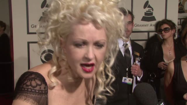 Cyndi Lauper at the 50th Annual GRAMMY Awards at Los Angeles California