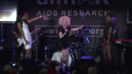 Cyndi Lauper Estelle and Kelly Rowland at the 2010 amfAR New York Inspiration Gala at New York NY